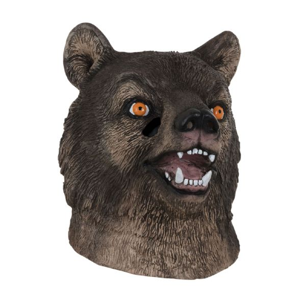 Bear Mask Realistic Grizzly Fancy Dress Prop